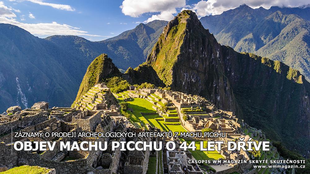 záznamy o prodeji archeologických artefaktů z Machu Picchu
